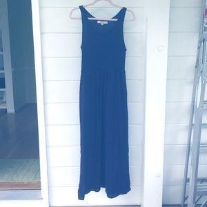 Loft dark navy maxi dress